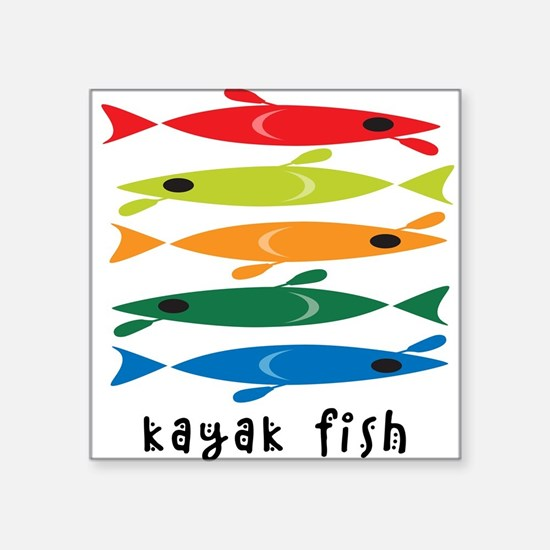 Kayak Fish Rectangle Sticker