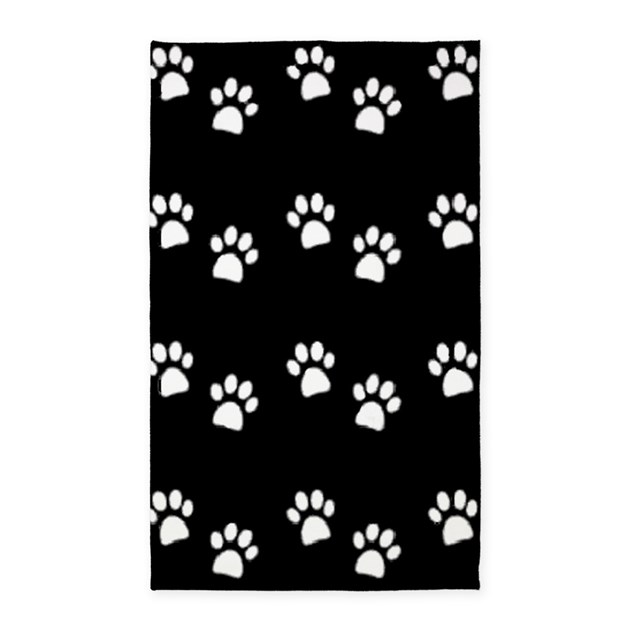 PAW PRINTS Area Rug Dark 3'x5' Area Rug By Mytreasurechest