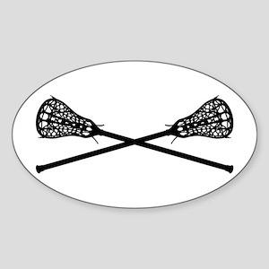 Crossed Lacrosse Sticks Sticker
