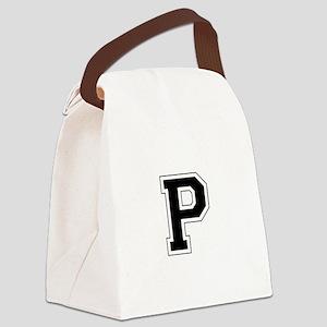 Collegiate Monogram P Canvas Lunch Bag