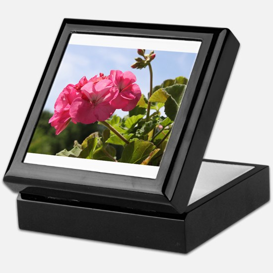 Pink Geranium in Virginia Sunshine Keepsake Box