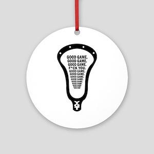 Lacrosse_GoodGame_blk Ornament (Round)