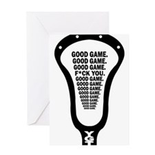 Lacrosse_GoodGame_blk Greeting Card