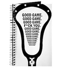 Lacrosse_GoodGame_blk Journal