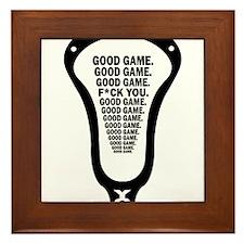 Lacrosse_GoodGame_blk Framed Tile