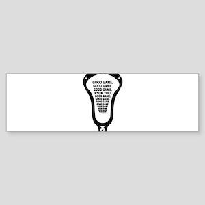 Lacrosse_GoodGame_blk Bumper Sticker