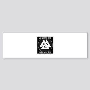 ASATRU VOLKNOT DO RIGHT  ODINIST SYMBOL Bumper Sti