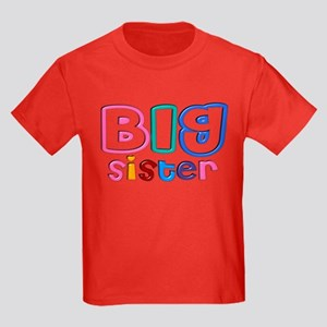 34 Effect Big Sister Design Kids Dark T-Shirt