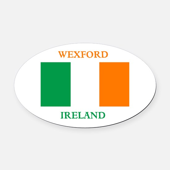 Wexford Ireland Oval Car Magnet