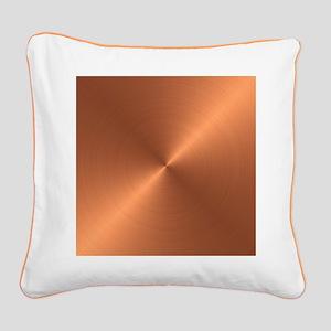 Copper Square Canvas Pillow