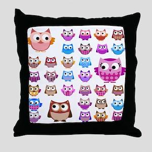 Owls! Throw Pillow