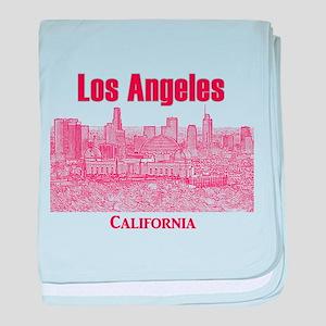 Los Angeles baby blanket