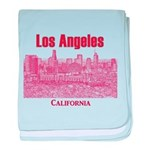 Los Angeles baby blanket