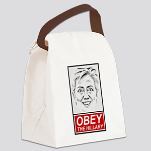 """""""Obey The Hillary"""" Canvas Lunch Bag"""