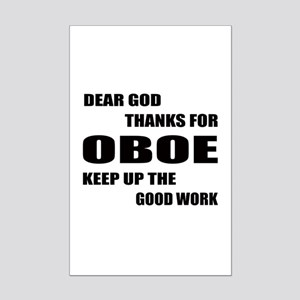 Dear God Thanks For Oboe Keep Up Mini Poster Print