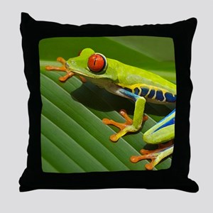 Red Eyed Tree Frog Throw Pillow
