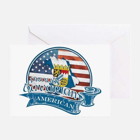 Proud Bavarian American Greeting Card