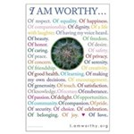 I Am Worthy Personal Affirmations Poster