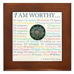 I Am Worthy Personal Affirmations Framed Tile