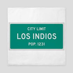 Los Indios, Texas City Limits Queen Duvet