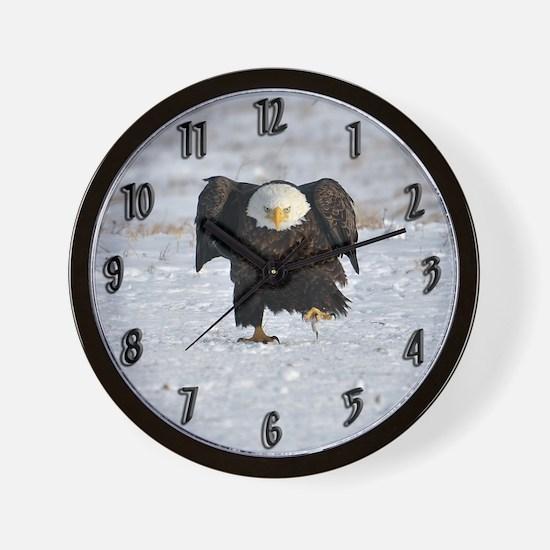 Eagle with an attitude Wall Clock