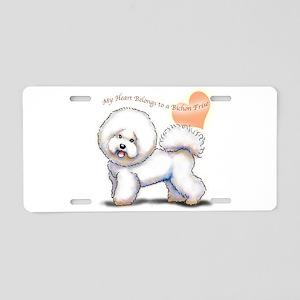bichon clear heart Aluminum License Plate