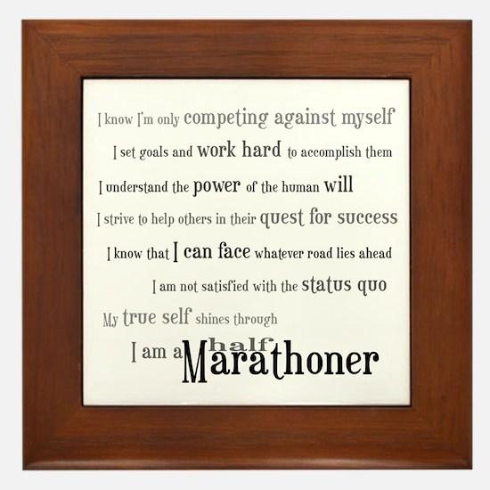 I'm a Half Marathoner Framed Tile