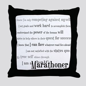 I'm a Half Marathoner Throw Pillow