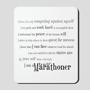 I'm a Half Marathoner Mousepad