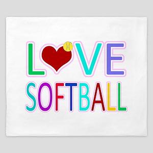LOVE Softball King Duvet