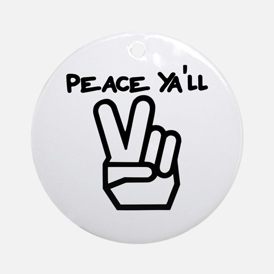 peace yall outline Ornament (Round)