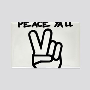 peace yall outline Rectangle Magnet