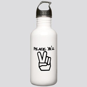 peace yall outline Water Bottle