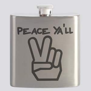 peace yall outline Flask