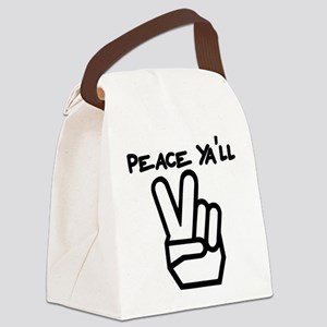 peace yall outline Canvas Lunch Bag