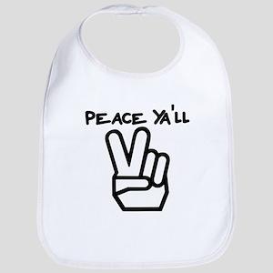 peace yall outline Bib