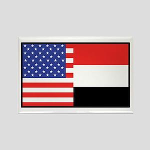 USA/Yemen Rectangle Magnet