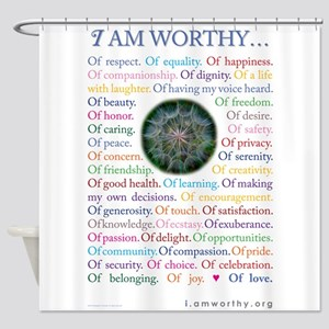 Personal Affirmations shower curtain