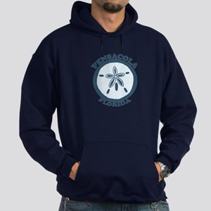 Pensacola Beach - Sand Dollar Design. Hoodie (dark