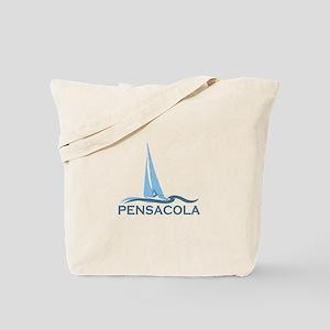 Pensacola Beach - Sailing Design. Tote Bag