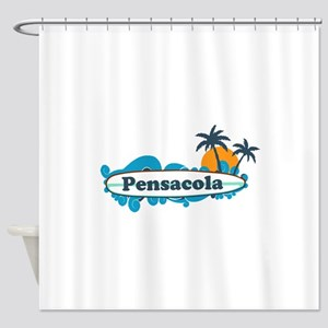 Pensacola Beach - Surf Design. Shower Curtain