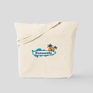 Pensacola Beach - Surf Design. Tote Bag