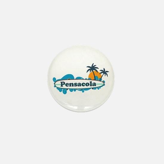 Pensacola Beach - Surf Design. Mini Button