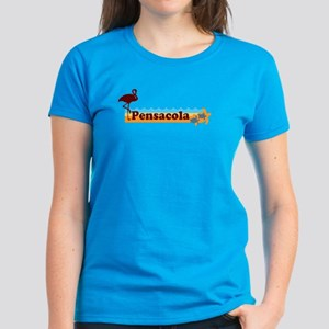 Pensacola Beach - Beach Design. Women's Dark T-Shi