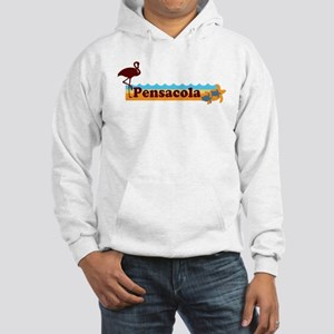 Pensacola Beach - Beach Design. Hooded Sweatshirt