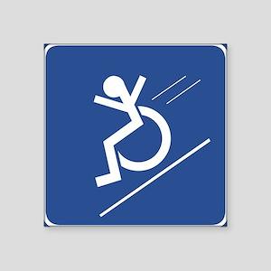 Wheelchair WHEE! Rectangle Sticker
