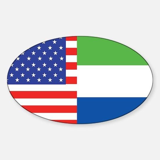 USA/Sierra Leone Oval Decal