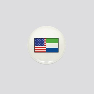 USA/Sierra Leone Mini Button
