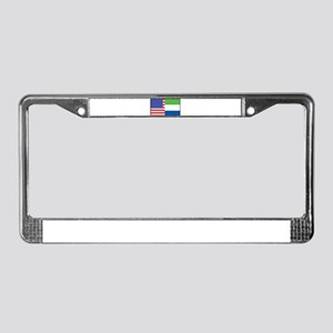 USA/Sierra Leone License Plate Frame