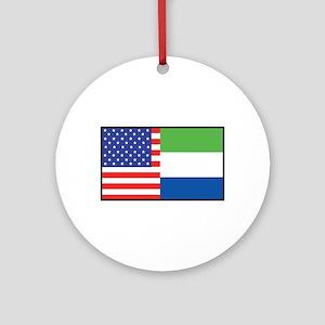USA/Sierra Leone Ornament (Round)
